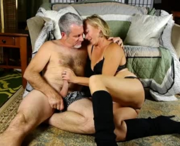 Kinky, Elderly Couple Today Is Having Sex In Front Of A Fire Place, In Their Home