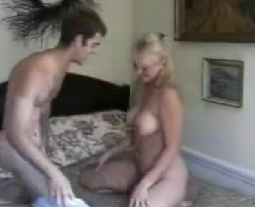 Adorable, Elderly Woman Knows How To Keep Her Man Completely Satisfied, In Her Bed