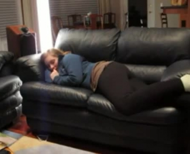 Dirty Romanian Teen Gets Some On The Sofa