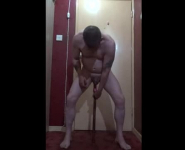 Kinky Woman Is Kneeling On The Floor And Licking A Huge Meat Stick Like A Slut