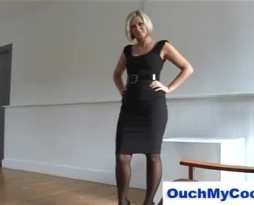 Dirty Blonde Chick In Harsh Action