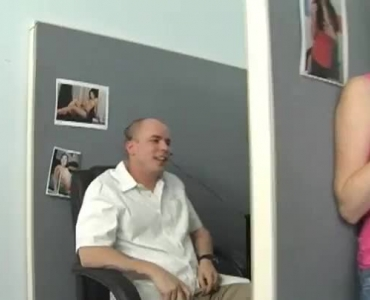 Teenie Gets Her Tits Banged Between Her Legs At A Huge Porn Video Casting