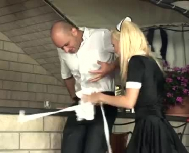 Very Mature Maid Sucking Milk Out Of The Hose