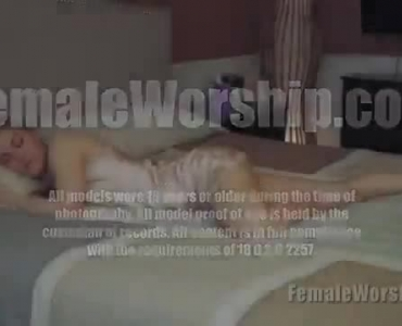 Bossy Blonde Wife Gets Her Pussy Licked