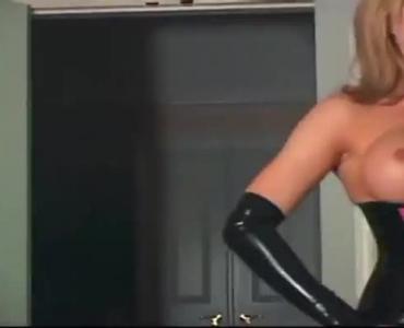 Latex Cock Riding Striptease