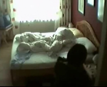 Hairy Asian Slut Got Her Legs Lifted High So She Could Have Fun, In Her Bed