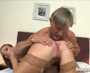 Small Titted Babe And A Handsome Older Guy Are About To Have Casual Sex Session