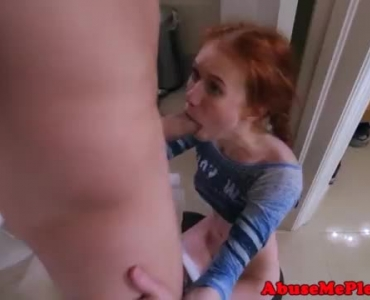 Little Redhead Teen Riding Cock On A Soapy Massage