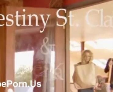 Sensual Blonde Woman, Alexa Bella Is Sucking Her Best Friend's Cock After He Fucked Her Better