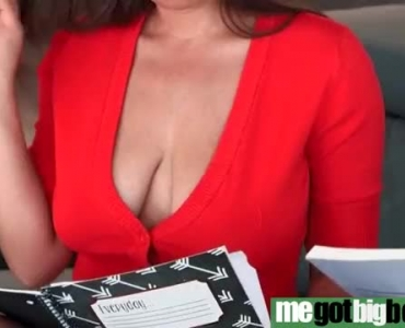 Busty Brunette With Small Tits, Ella Knox Just Got Fucked In Front Of The Camera