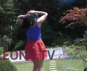 Sexy Girlfriend Under Her Floral Skirt