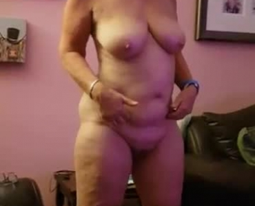 'busty Brunette Girl' Posing Naked In Front Of The Camera