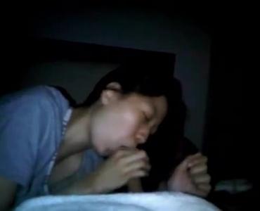 Asian Teen Sucking Cock