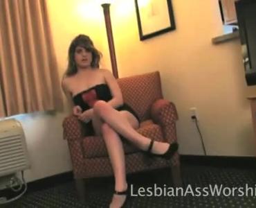 Sweet Lesbians Eating 3D Sex Toys