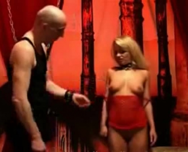 Hot Neighbour With Blonde Hair Is Bound And Whipped