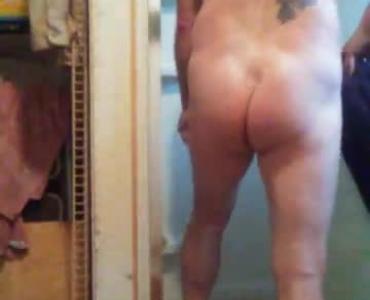 Gorgeous Teen Strips Her Bikini Panty In The Shower