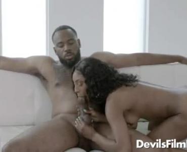 Hot Ebony Riding A Huge Cock