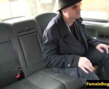 Sexy Horny Babe Jerking Guy In Cab