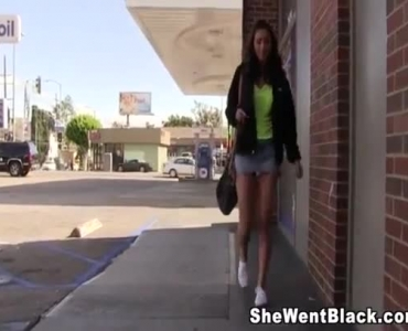 Slim Black Cunt Rides A Three- Hole Cock