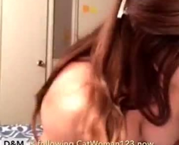 Brunette Plumper Has A Fat Ass But A Naughty One Of Them