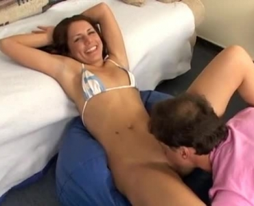 Sexy Brunette Sucks Cock And Gets Pounded Until Facial