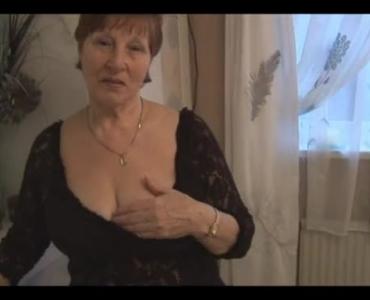 Horny Granny Posing In White Panties