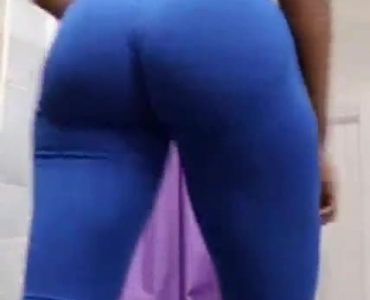 Nasty Teen Is Toying Her Tight Ass With Her Glass Sex Toy, While She Is In The Office