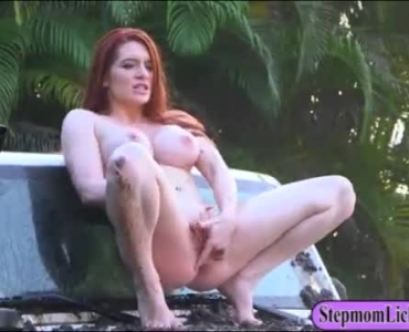 Blonde Milf Trading Oral Sex Outdoors