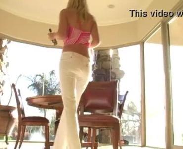 Blonde Teen Strip Off Her Panties