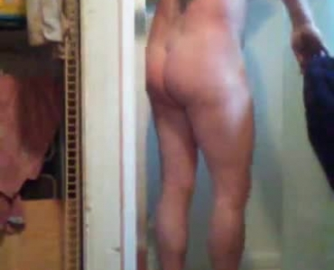 Brunette Milf Shemale Cucks Young Stud In The Shower